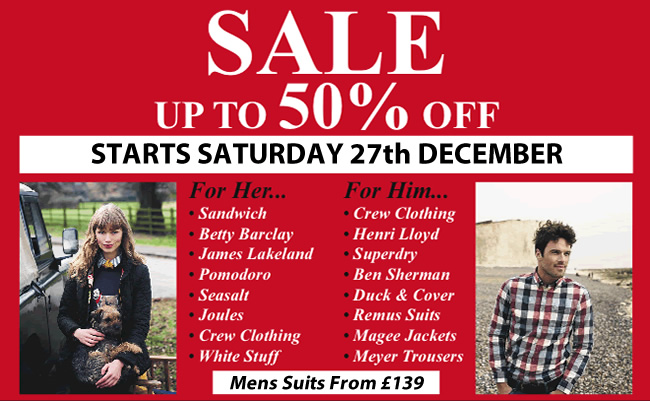 Warwicks Christmas Sale 2014